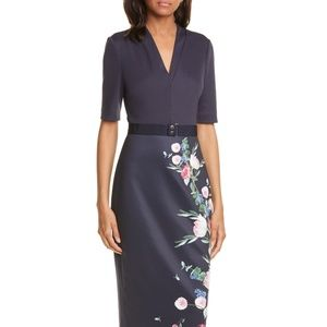 Ted Baker Norraa Fantasia Body-Con Dress $289